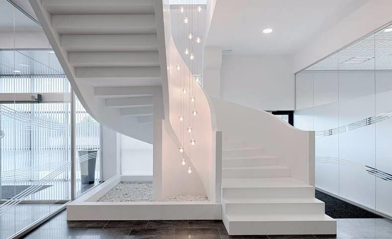 Cầu thang bằng đá nhân tạo Solid Surface Dupont