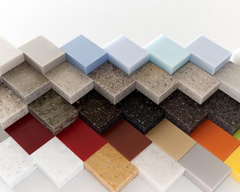 Bảng màu đa dạng của đá Solid Surface Dupont Mỹ